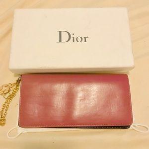 Christian Dior lambskin long Wallet